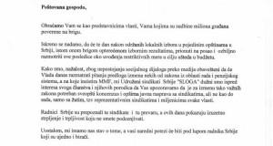 Otvoreno pismo Vladi Republike Srbije