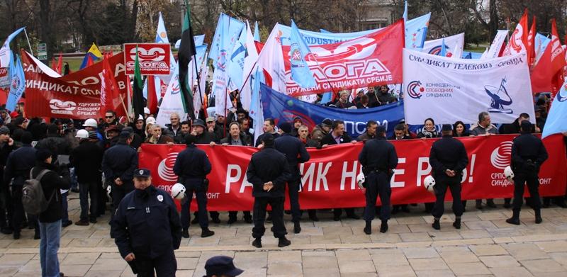 Protest Srpskog sindikalnog fronta