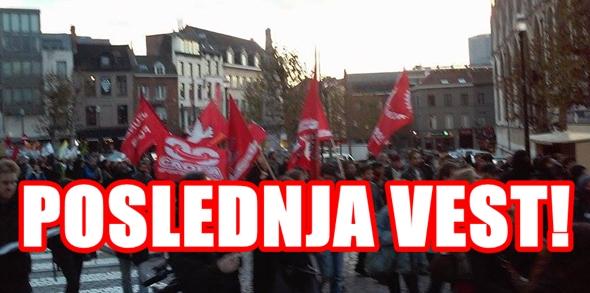 Sloga na uličnim demostracijama u  Briselu, policija interveniše!