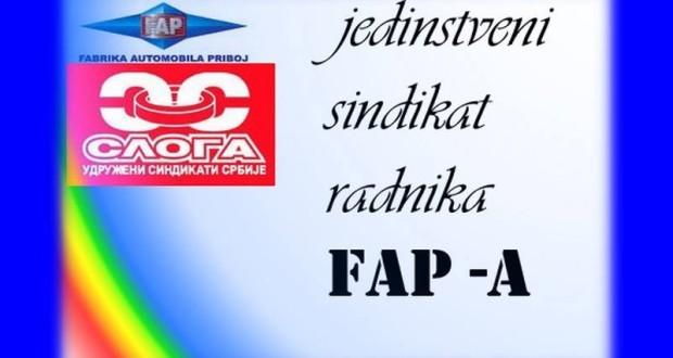 Saopštenje sindikata FAP SLOGA povodom isplate zarada