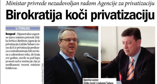 Birokratija koči privatizaciju