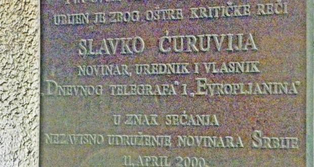 Obeleženo 16 godina od ubistva novinara Slavka Ćuruvije