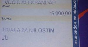 "Вратила Вучићу 5000 поручивши му ""хвала за милостињу"""