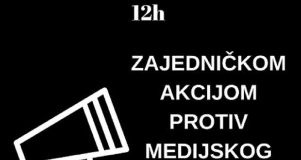 Protestna akcija: Zamračenje medija i društvenih mreža u Srbiji sutra u podne