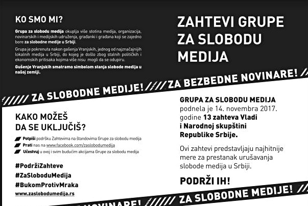 Akcija! U nedelju 19. novembra, od 12 č do 15 č, širom Srbije! Bukom protiv mraka!