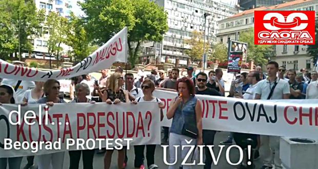 Sloga podržala protest dužnika u švajcarcima