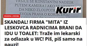 Жељко Веселиновић за Курир: Страшно понижавање радника