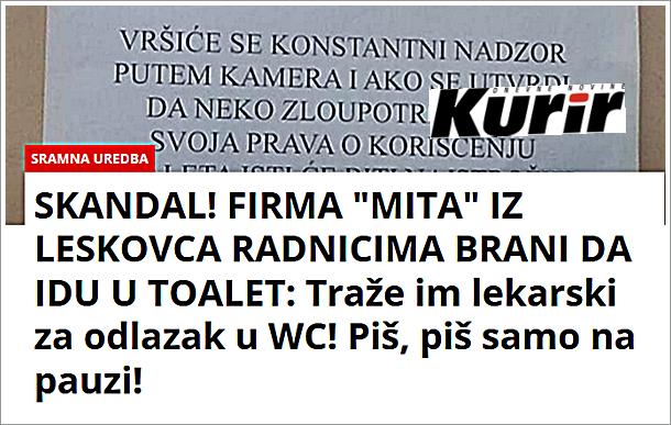 Željko Veselinović za Kurir: Strašno ponižavanje radnika
