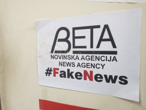 Plakati protiv agencije Beta ozbiljna pretnja