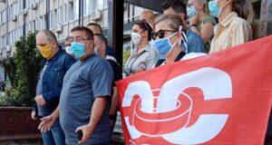 Protest sindikata Sloga ispred Ministarstva poljoprivrede Srbije