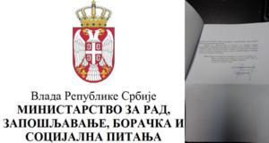 Progonu sindikalaca u Kikindi se pridružilo i Ministarstvo rada