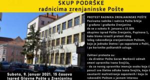 Završen protest radnika Pošte Zrenjanin