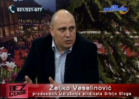 """ŽELjKO VESELINOVIĆ O RADNICIMA I NjIHOVIM PRAVIMA U EMISIJI """"BEZ CENZURE"""""""