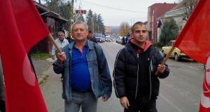 """Protestna šetnja radnika JKP """"Izvor"""""""