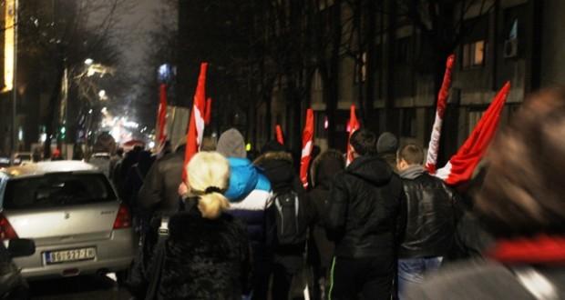 Završena protestna šetnja prosvetara u Beogradu