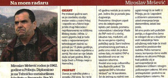 Na mom radaru: Miroslav Mršević