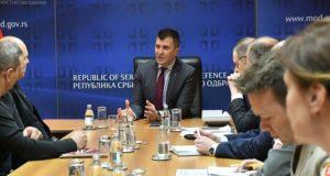 Predstavnici Sloge na sastanku sa ministrom odbrane