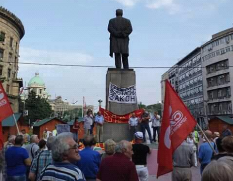(VIDEO) Sloga podržala protest vojnih i civilnih penzionera u Beogradu