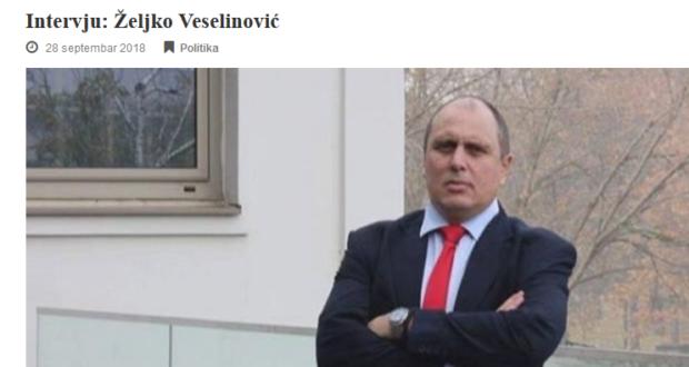 Intervju za gminfo.rs: Željko Veselinović