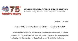 Srbija: Podrška WFTU predsedniku sindikata u Vojsci Srbije