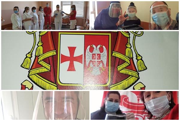 Donacija vizira za medicinske radnike Sloge