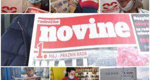 """""""RADNIČKE NOVINE"""" U RUKAMA RADNIKA"""